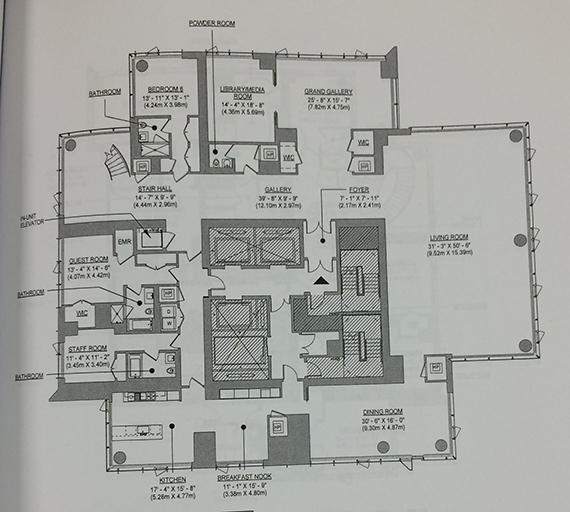 Lower floor of a duplex