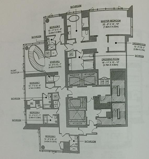 Upper floor of a duplex