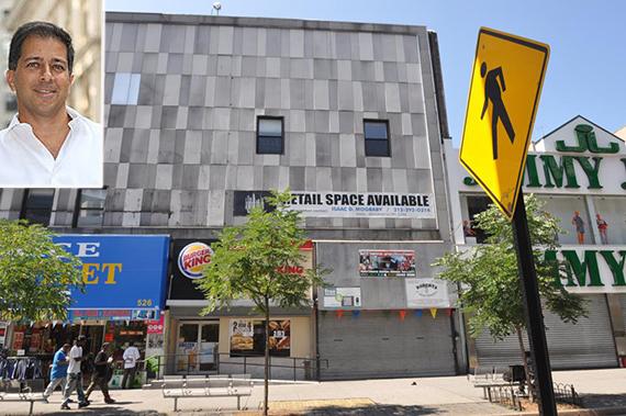 522 Fulton Street in Brooklyn (inset: Haim)