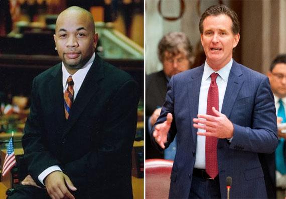 From left: Assembly Speaker Carl Heastie and state Senate Speaker John Flanagan