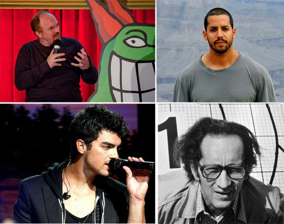 Louis C.K. , David Blaine, Joe Jonas and Frank Stella