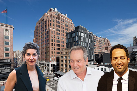 Ninth Avenue in the Meatpacking District (inset from left: Lauren Danziger, Paul Pariser and Jared Epstein) (credit: Meatpacking DMA)