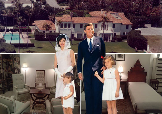"""Former Kennedy """"Winter White House,"""" walnut beds and upholstered chairsto be auctioned, and the Kennedy family"""
