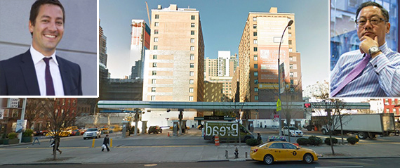 615 10th Avenue in Hell's Kitchen (inset: Alexandre Vial and XIN's John Liang)