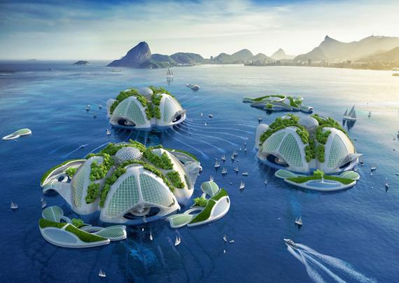 Renderings of tk's ocean habitats.