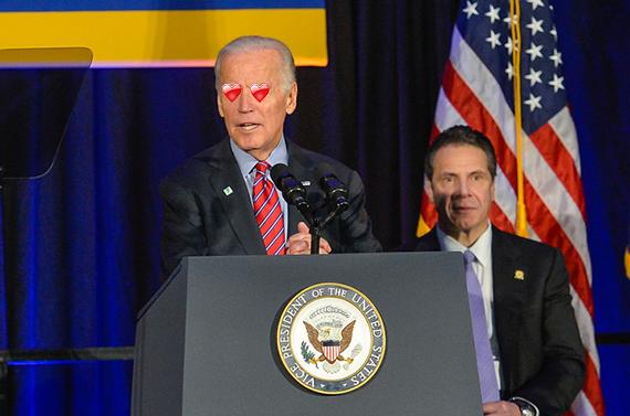 Gov. Andrew Cuomo and Vice President Joe Biden at the McBurney YMCA in Chelsea (credit: Governor Cuomo's office)