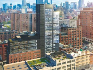 Rendering of office building at 412 West 15th Street