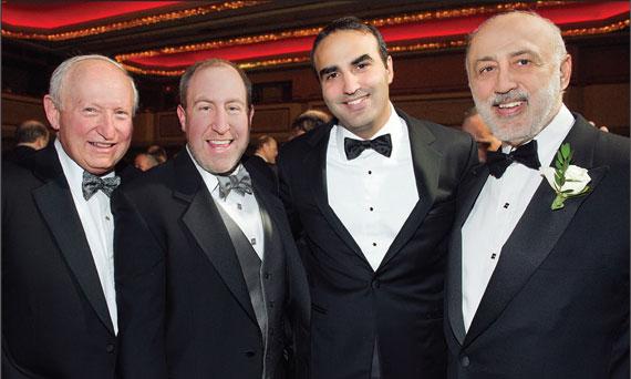 Andrew Singer, Scott Singer, Justin Elghanayan and Henry Elghanayan, at the 2013 REBNY Banquet
