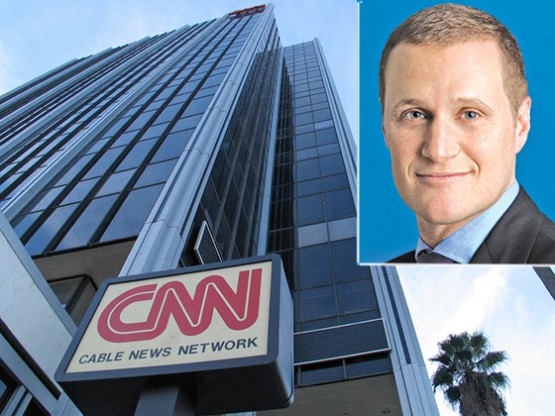 The CNN Building in Hollywood and Rob Tishman, CEO of Tishman Speyer