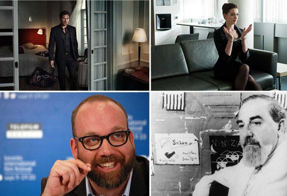 Clockwise from left:  Henrik Lundqvist, Anne Hathaway, Paul Giamatti and Al Hirschfeld