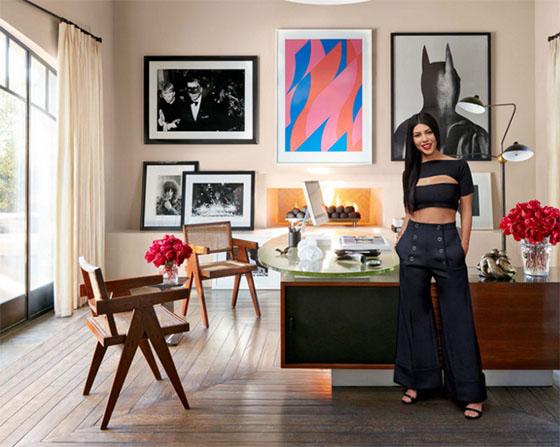 Kourtney Kardashian's home office in Calabasas (credit: Architectural Digest)