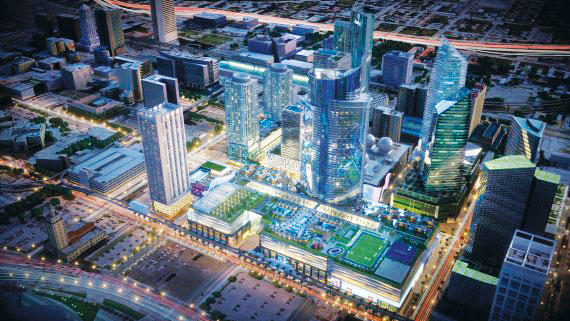 A rendering of Miami Worldcenter, a 27-acre mixed-use development project