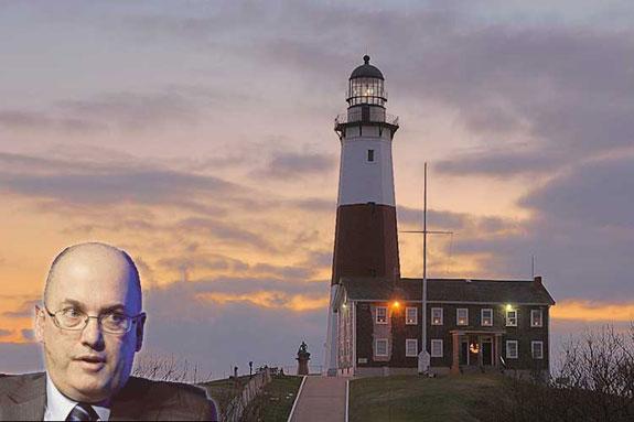 Steven Cohen and Montauk Point Lighthouse
