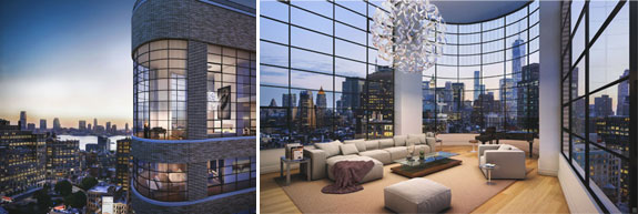 Renderings of 10 Sullivan Street and the penthouse