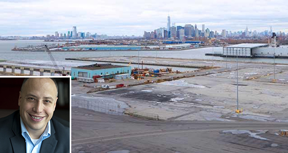 South Brooklyn Marine Termina (credit: EDC)l (inset: Deepwater Wind's Jeffrey Grybowski)