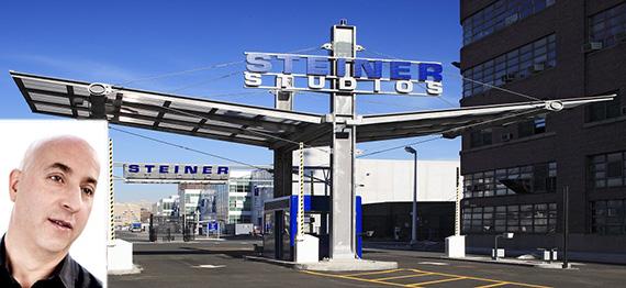 Steiner Studios at Brooklyn Navy Yard (inset: Doug Steiner) (credit: STUDIO SCRIVO)