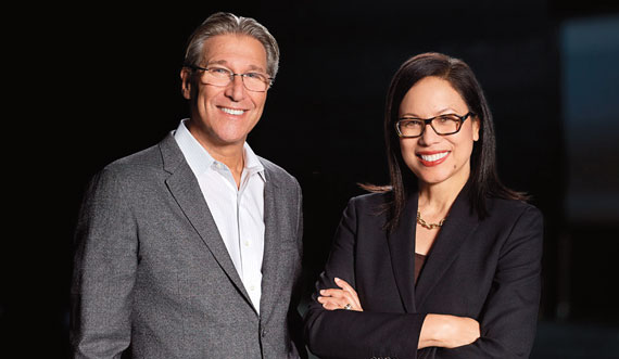 Gensler co-CEOs Andy Cohen, left, and Diane Hoskins