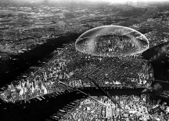 Buckminster Fuller and Shoji Sadao Dome Over Manhattan, 1960.