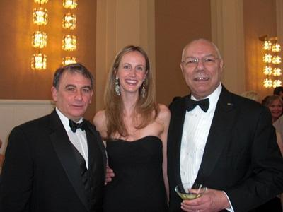 Former Secretary of State Colin Powell Jeffrey Leeds and Elizabeth Marshall (via Bisnow)