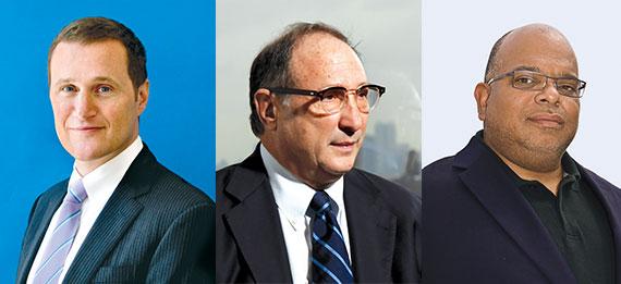 From left: Rob Speyer, Bruce Ratner and John Banks