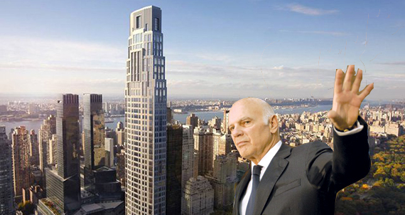 Vornado's Steven Roth and a rendering of 220 Central Park South