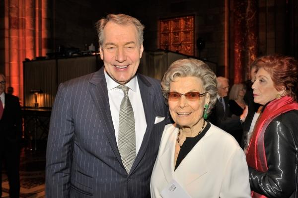 Charlie Rose & Rosalind P. Walter (photo credit: Joseph Sinnott/WNET)