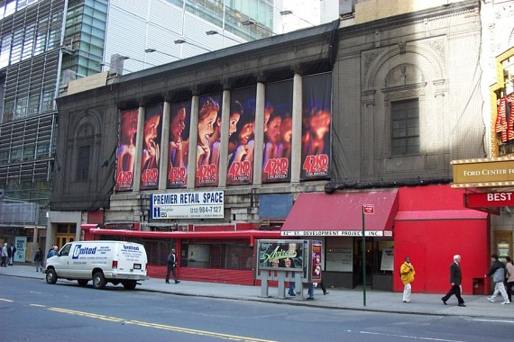The Times Square Theater at 217 West 42nd Street in Midtown