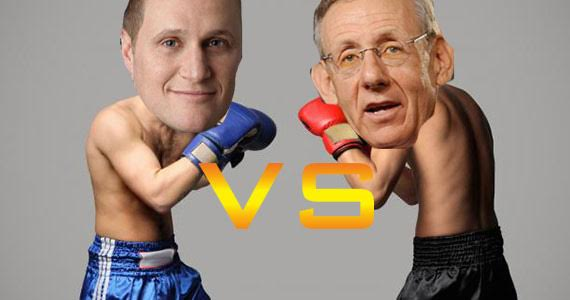 An illustration of a what a fight between Rob Speyer and Steven Ross might look like