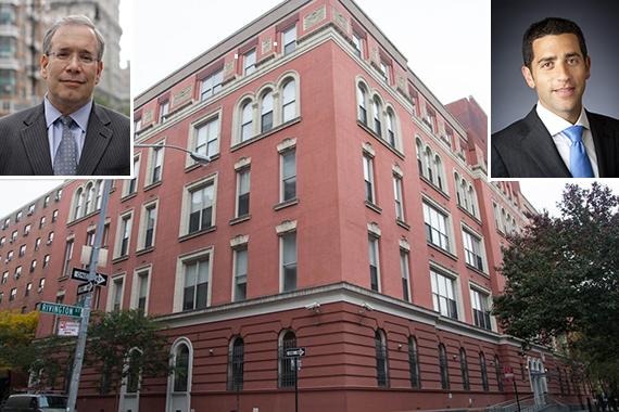 45 Rivington Street on the Lower East Side (inset: Scott Stringer and Slate's Martin Nussbaum)