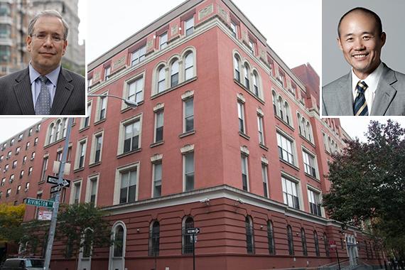 45 Rivington Street on the Lower East Side (inset: Scott Stringer and Vanke's Wang Shi
