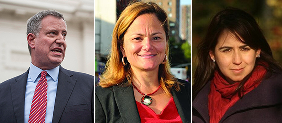 Bill de Blasio Melissa Mark Viverito