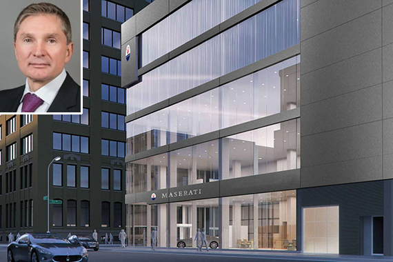 A rendering of the new Masterati of Manhattan (inset: Gary Flom)