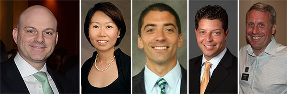 From left: Ron Lo Russo, Helen Hwang, Sacha Zarba, Hal Stein and Chase Welles