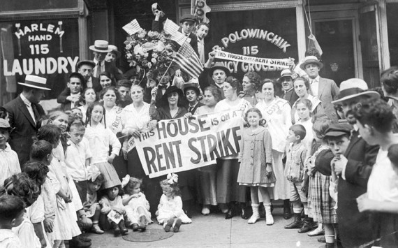 A rent strike in Harlem, 1919