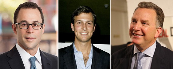 From left: Jeff Blau, Jared Kushner and Steve Witkoff