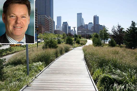 Hudson River Park (inset: Lend Lease CEO Steve McCann)