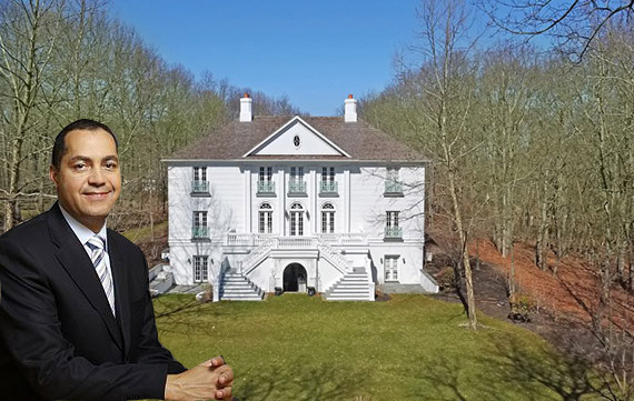 Don Peebles and his Bridgehampton home