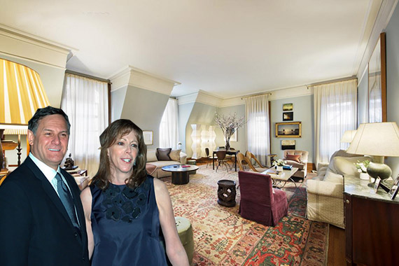 Craig Hatkoff and Jane Rosenthal and their Dakota pad (credit: Corcoran Group)