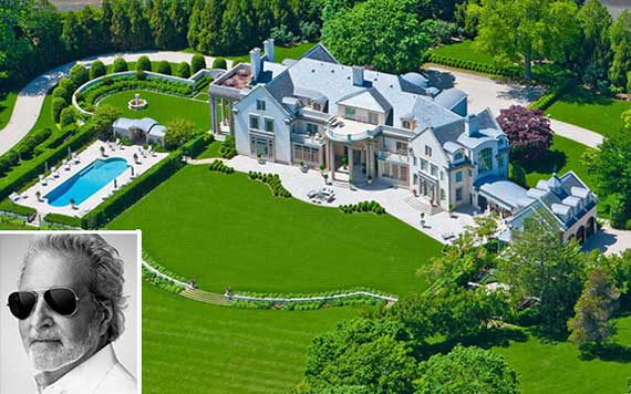 The Villa Maria estate in Water Mill (inset: Vince Camuto) (Credit: Camuto Group)