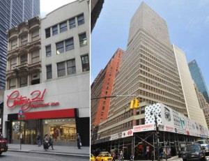 From left: 175 Broadway and 1407 Broadway