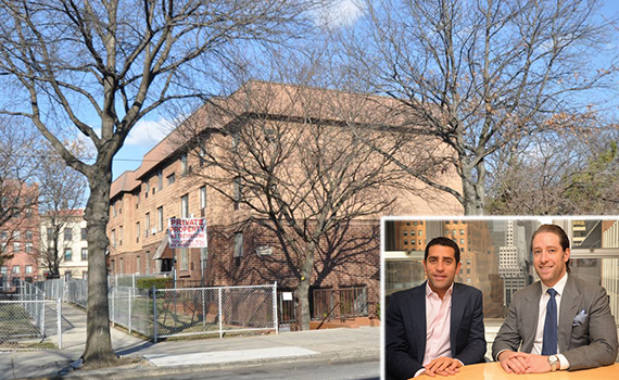 198 Johnson Avenue in East Williamsburg (inset, from left: Martin Nussbaum and David Schwartz)
