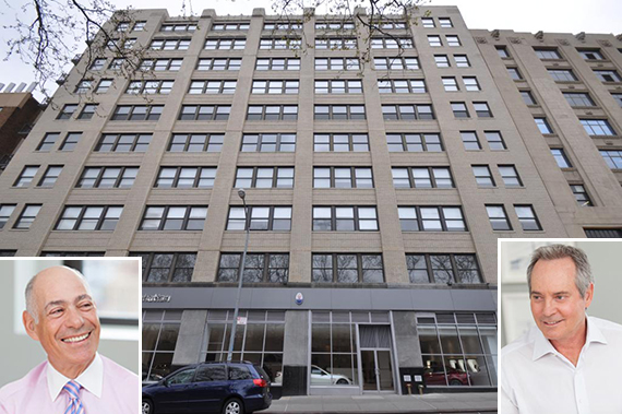619-627 West 54th Street (inset from left: Charlie Bendit and Paul Pariser)