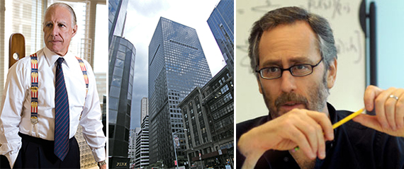 From left: Edward Minskoff, 1166 Sixth Avenue in Midtown and David Shaw