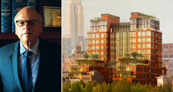 Howard Lorber and a rendering of 150 Charles
