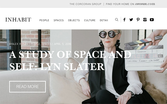 Corcoran's new lifestyle website Inhabit