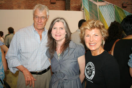 James McClennen (left), Mary Ceruti (center), and Stephania McClennen (right)