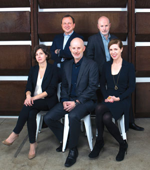 SHoP's team, from left: Coren Sharples, Gregg Pasquarelli, Christopher Sharples, William Sharples and Kimberly Holden