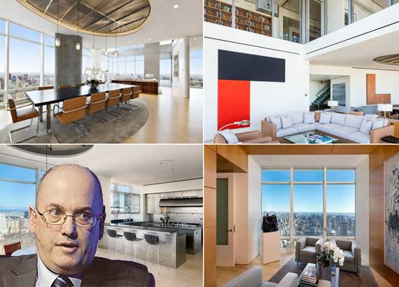 Penthouse at 151 East 58th Street and Steve Cohen