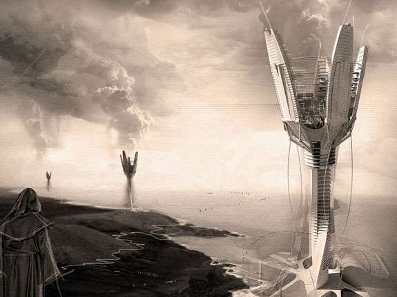 this-rainmaking-skyscraper-called-the-cloud-craft-is-intended-to-help-alleviate-droughts-by-cloud-seeding--injecting-environmentally-safe-chemicals-into-the-atmosphere-to-encourage-cloud-formation
