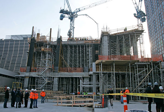 Related's construction of 10 Hudson Yards